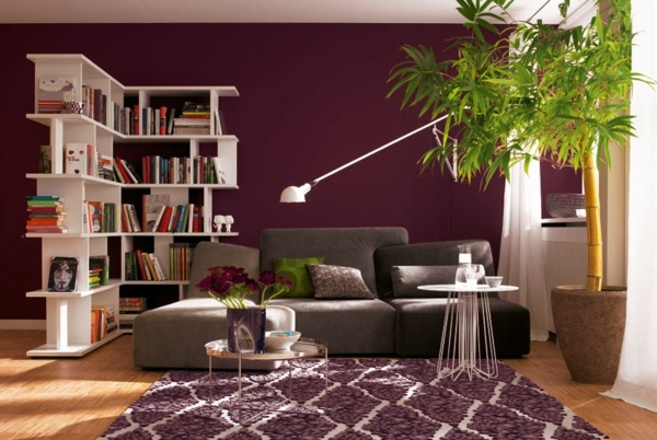 Wall color berry trendy shades for a modern wall design - Wandfarbe lounge ...