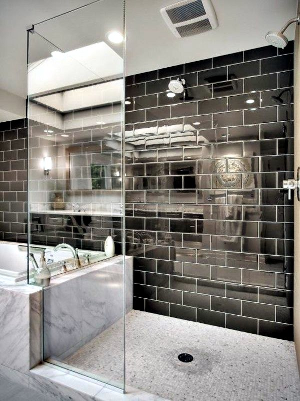Bring Your Small Bathroom Sparkle Tile Bright Tiles Make Ear Larger