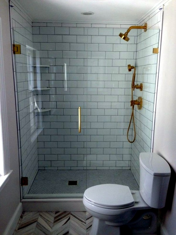 Small bathroom tile bright tiles make your bathroom for Small bathroom big or small tiles