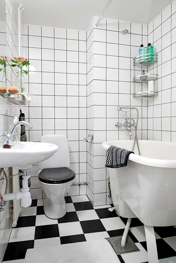 Create A Checkerboard Pattern On The Floor Small Bathroom Tile   Bright  Tiles Make Your Bathroom Appear Larger