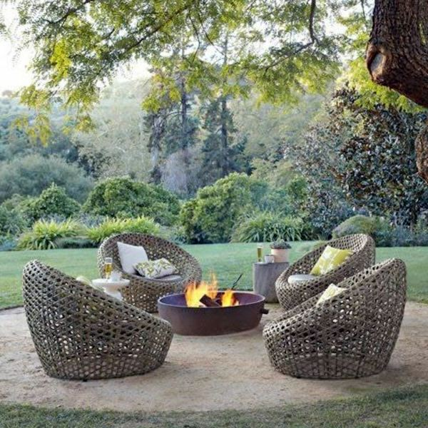 Designer Furniture Collection Around The Campfire Around 25 Outdoor Rattan  Furniture   Lounge Furniture From Rattan And Wicker
