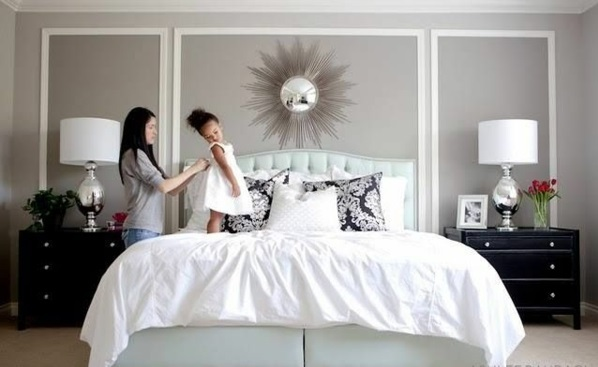 Delightful Symmetry And Opulence In The Bedroom Bedroom Wall Design   Thematic Bedroom  Design And Wall Decoration