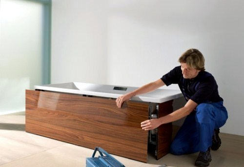 Tub surround in wood look for a beautiful bathroom | Interior Design ...