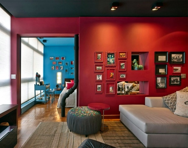 Color design apartment interior ideas full of flavor Interior colour design