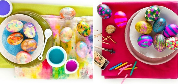 Selected paint Easter eggs - Easter Decor DIY