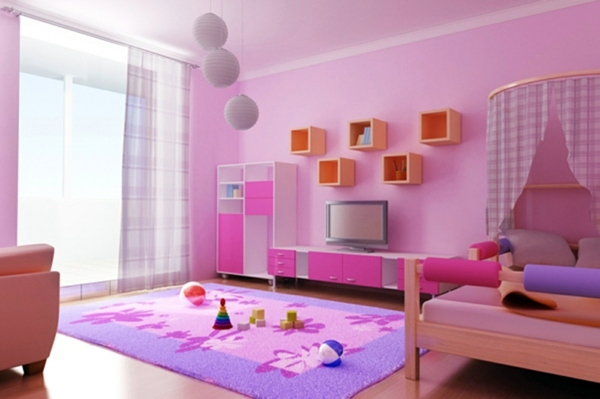 The childrens room interior with bright colors refresh Interior