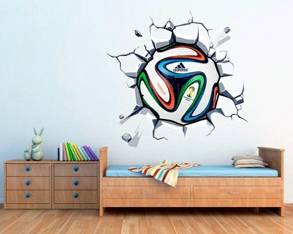 ... Wall To Soccer Decoration At Home   Great Inspiration For Football Fans