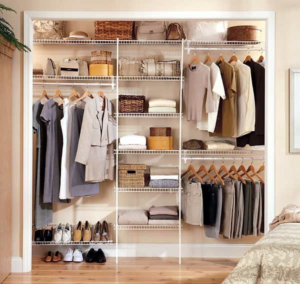 Elegant Closets intelligently organize the closet: 50 images, stock plans and