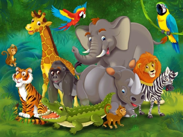 Definition Modular Classroom ~ Jungle kids wallpaper we make children interior design