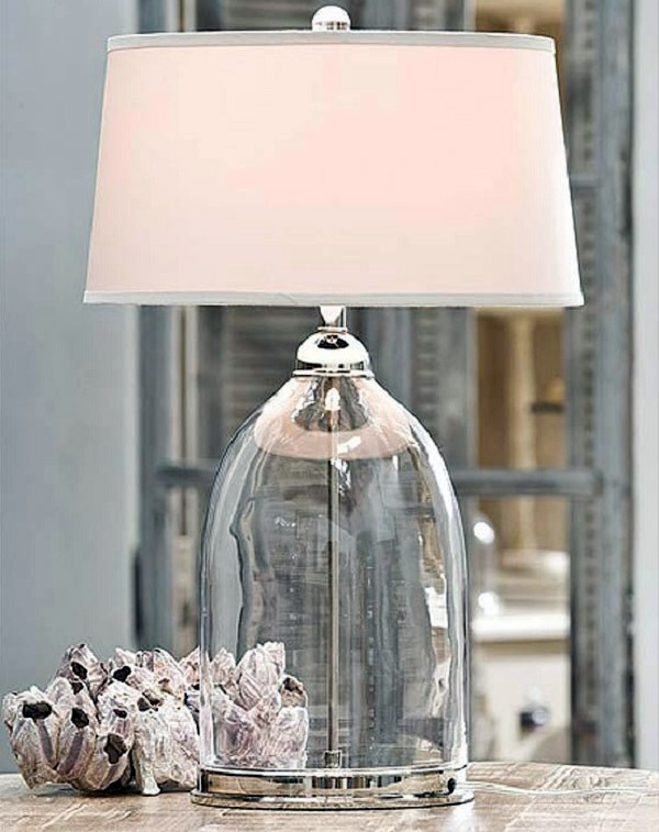 Contemporary table lamps made of glass   wonderful lighting at home. Contemporary table lamps made of glass   wonderful lighting at