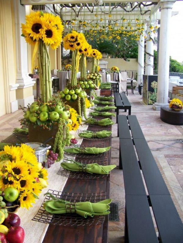 Sunflower Table Decor My Web Value. Sunflower Centerpieces ... & Outstanding Sunflower Table Settings Ideas - Best Image Engine ...