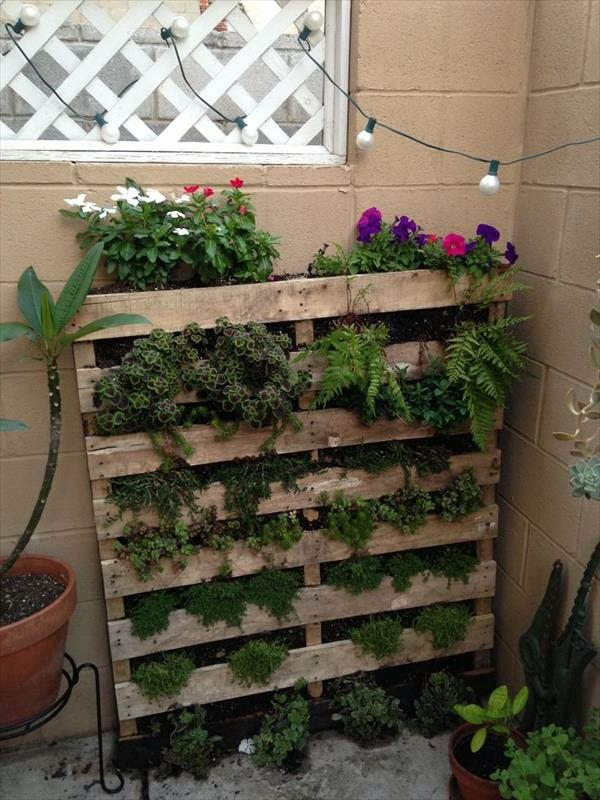 creating a vertical garden and flower diy from euro pallets interior design ideas avso org. Black Bedroom Furniture Sets. Home Design Ideas