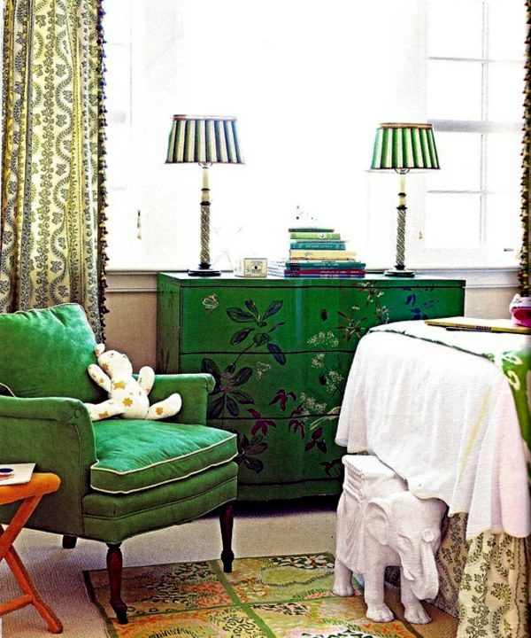 Patterns And Antique Decorations The Color Green