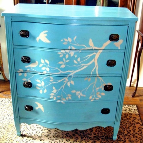 Diy decorating ideas for painted furniture interior for Ideas for painting a dresser