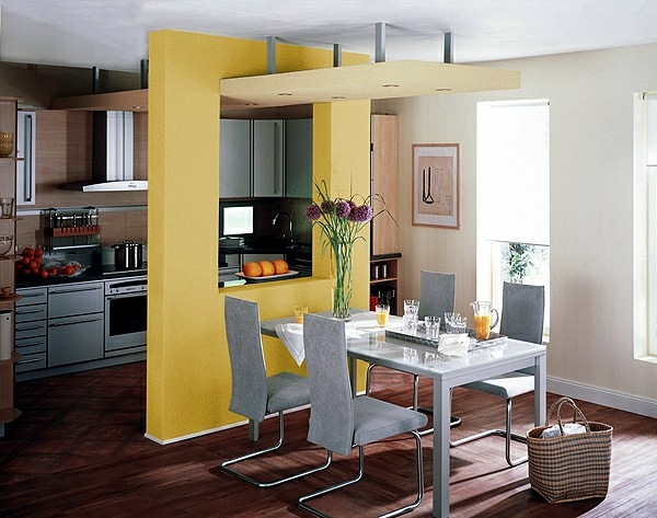 Yellow Accents And Floral Decoration Feng Shui Kitchen
