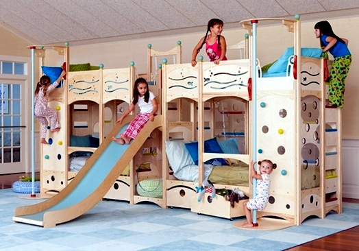 Childrenu0027s Room Design U2013 Cool Play Beds For Toddlers Made Of Natural Wood