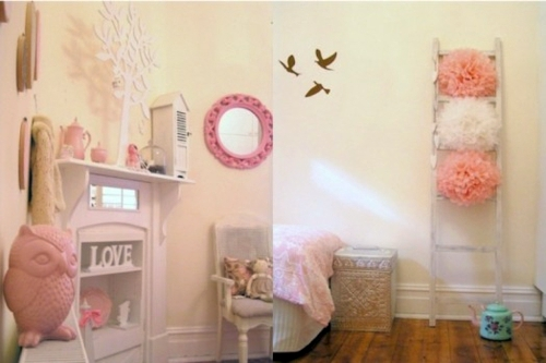 Girls bedroom in shabby chic style interior design ideas for Shabby chic bedroom ideas for girls