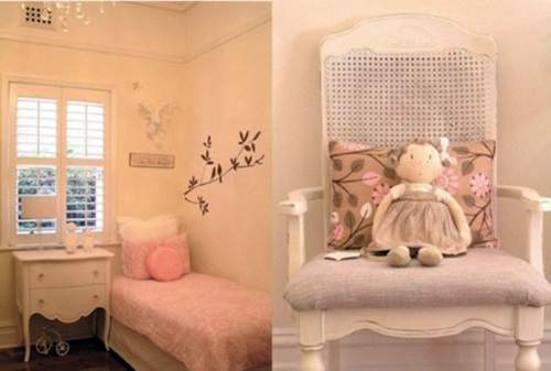 Girls bedroom in shabby chic style interior design ideas Shabby chic girls bedroom furniture