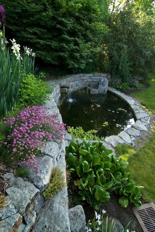 Creating a koi pond in the garden typical extra for the for Koi fish pond garden design ideas