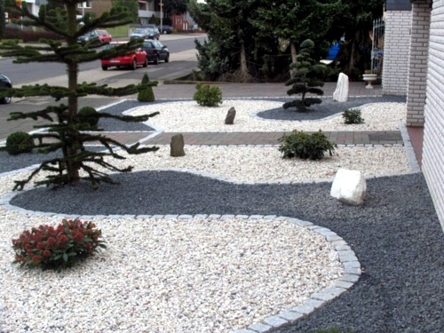 Front garden design with gravel you want to give a striking