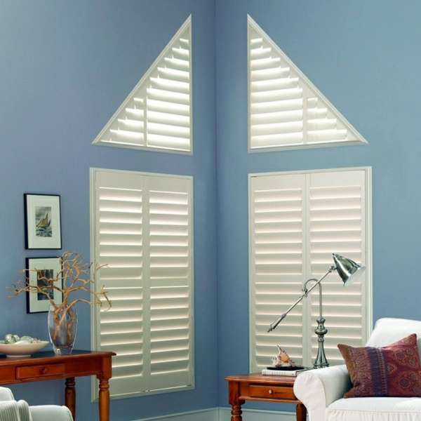 Triangular Windows Darken Window Blinds Or Films