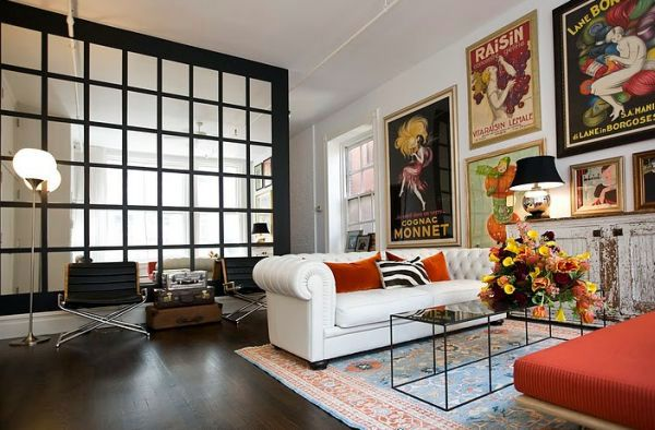 30 ideas for decorating wall with posters: a vintage atmosphere in ...