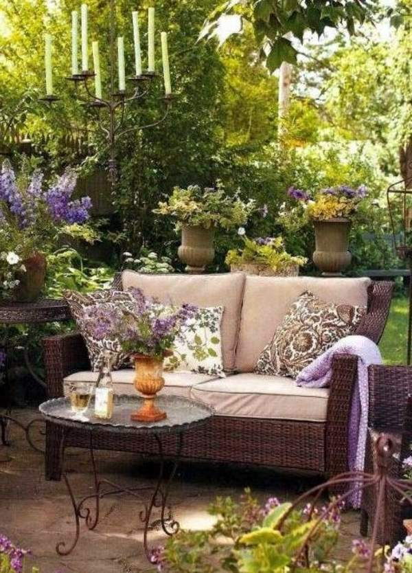 Vintage Elegant Outdoor Atmosphere Garden Design Ideas   Photos For Garden  Decor