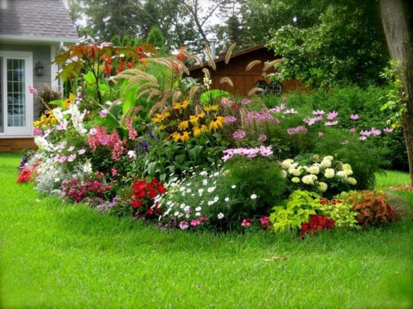 Traditional Home Garden Decor With Flower Garden Design Ideas Photos For Garden Decor Interior Design