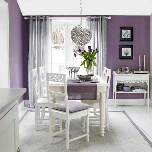 Green Wall Color Scheme And Purple Beds In Small Teenage: Try Purple Color Scheme For The Residential Facility