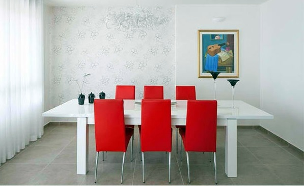 15 gorgeous dining room in red white and black interior design