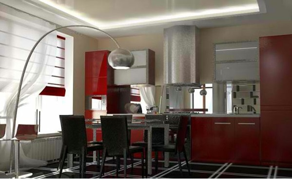 15 Gorgeous Dining Room In Red White And Black Interior