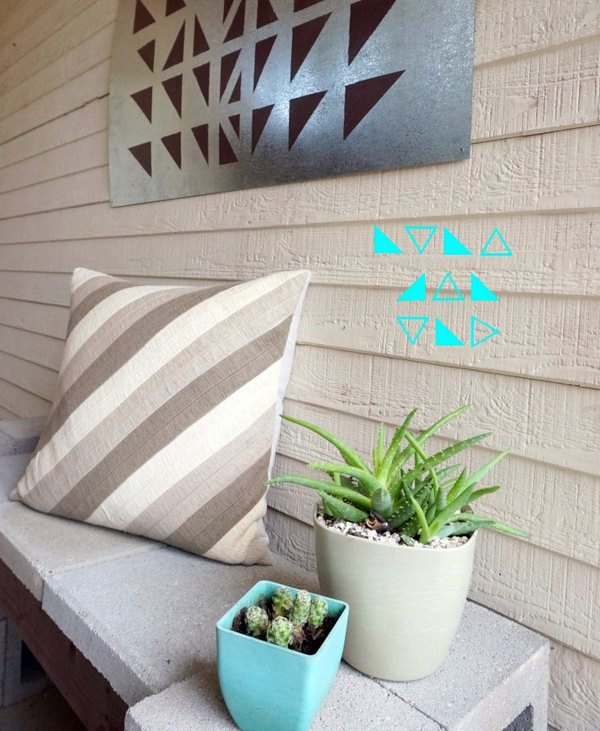 Outdoor wall decoration do it yourself diy projects geometric outdoor wall decoration do it yourself diy projects geometric solutioingenieria Choice Image