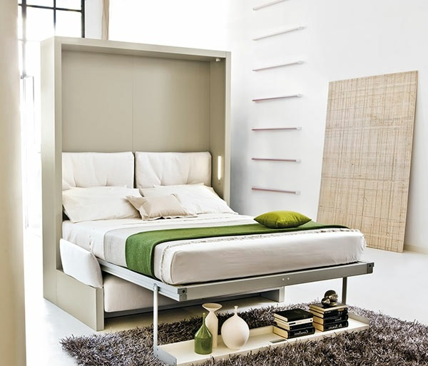 Wall cabinet with folding bed living ideas for practical for Portable bed ideas