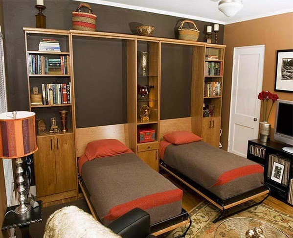 Wall Cabinet With Folding Bed Living Ideas For Practical Wall Beds Interior Design Ideas