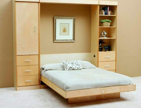 Wall cabinet with folding bed – living ideas for practical wall beds | Interior Design Ideas ...