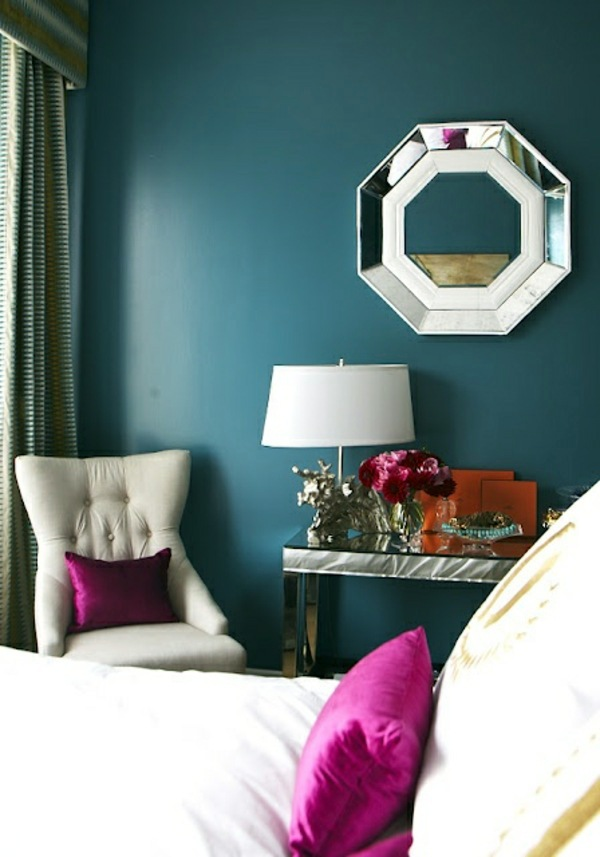 Wall color lagoon you feel the sea breeze and the home - Magenta wandfarbe ...