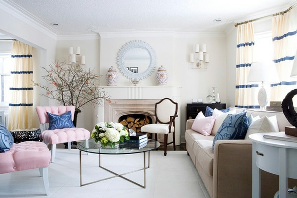 Furniture pompous room in pastel colors Wonderful ideas - interior in pastel  colors