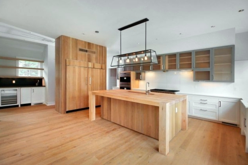 Küche   Wood Flooring In The Kitchen For A Homely Atmosphere