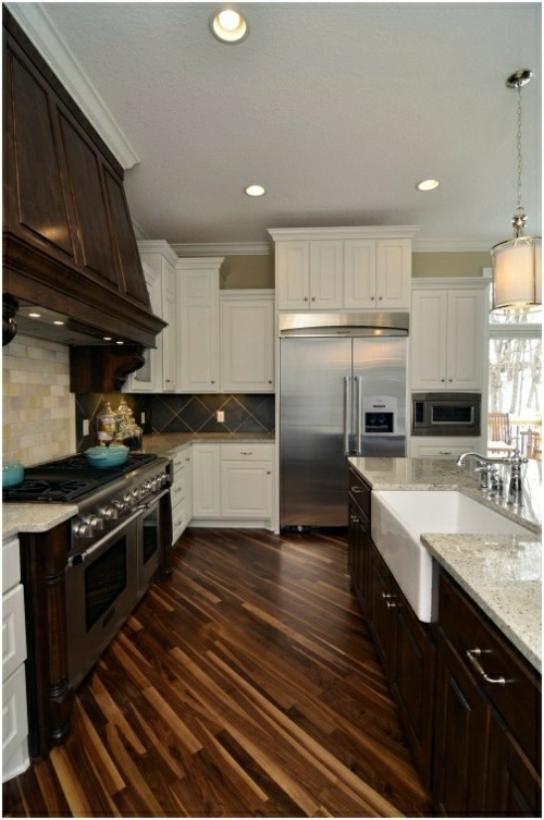 Optical Contrast Structural Movement Wood Flooring In The Kitchen For A  Homely Atmosphere