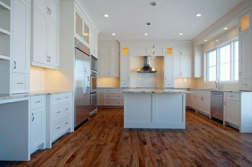 Flooring Of A Particular Kind Wood Flooring In The Kitchen For A Homely  Atmosphere