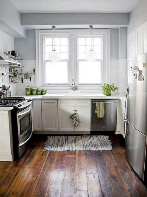 Wood Flooring In The Kitchen For A Homely Atmosphere