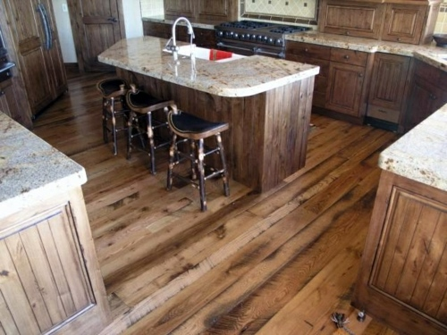 ... Wood Flooring In The Kitchen For A Homely Atmosphere