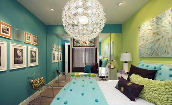 Design Ideas For Girls Bedroom Bedroom Colors Ideas   Blue And Bright Lime  Green