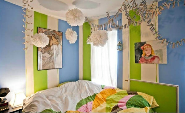 Laura Lee Gulledge Bedroom Colors Ideas Blue And Bright Lime Green