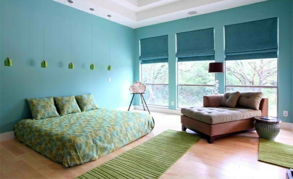 Custom Home That Bedroom Colors Ideas   Blue And Bright Lime Green