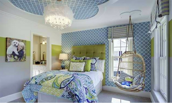 Interior Green And Blue Bedrooms bedroom colors ideas blue and bright lime green interior country club renewal model green