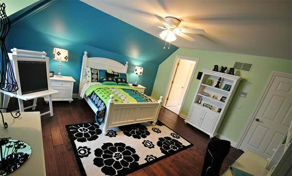 Finishing Touches Interior Design Bedroom Colors Ideas Blue And Bright Lime Green