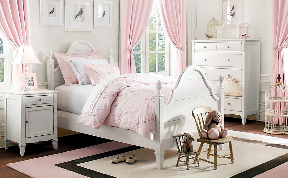 Complete nursery furniture a girl 39 s room in pink and white Pink room with white furniture