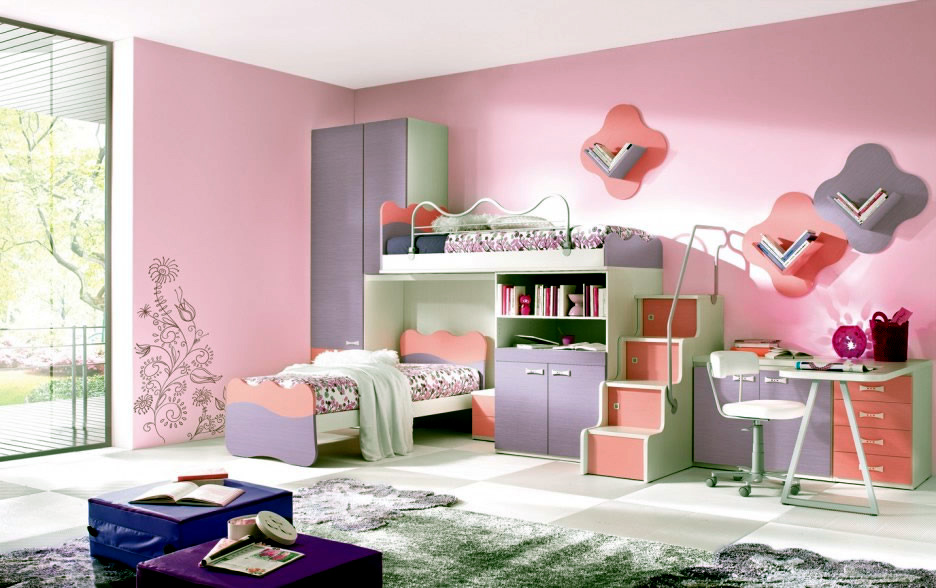 Complete Nursery Furniture A girl\'s room in pink and white ...
