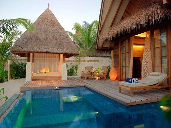 Beautiful Exotic Den Moderne Architektur   With Pool Garden Design   20  Stunning Garden Pool Inspiration